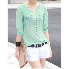 Camisa feminina punk mint - FRETE GRATIS