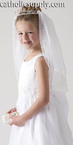 Tiara First Communion Veil from CatholicSupply.com