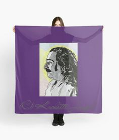 Avatar Scarf http://www.redbubble.com/people/karlettejoseph/works/22769689-avatar?asc=u&p=scarf&rel=carousel #Avatar #MeherBaba #scarf #purple #art