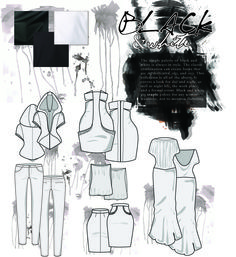 FASHION DRAWING Technical flats... THAT SKIRT IN THE MIDDLE