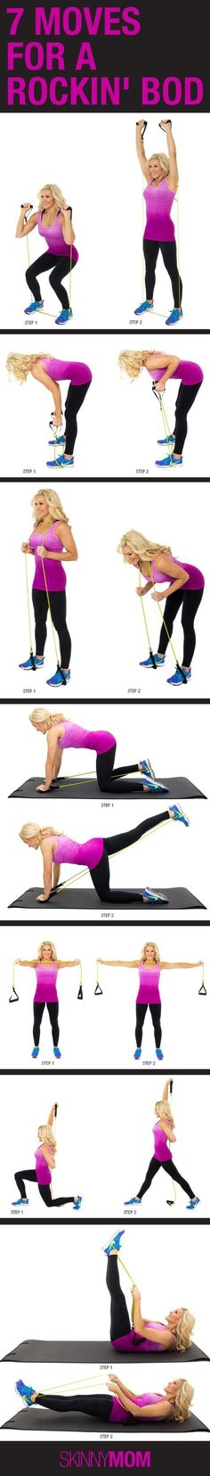 Get a full body workout with only one piece of equipment. These resistance band exercises will get you toned and tight!
