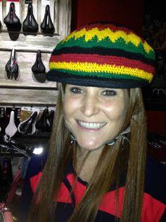 Bandbox Jamaican bicycle helmet hat | Reggae bicycle helmet