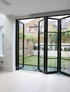 Decor: Alluring Lowes Patio Doors For Home Exterior Design . French Doors UPVC French Doors From Clearview Home . Home and Family Balcony Doors, Sliding Patio Doors, Sliding Glass Doors, French Doors Patio, Exterior Folding Doors, Bi Fold Doors, Black French Doors, Exterior Patio Doors, Modern Patio Doors
