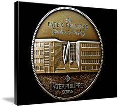 "Patek Philippe Geneve Commemorative Medal Coin (Front) $264 // Style: Soft Edge Canvas Print; Size: Grande 36"" x 48"" // Visit http://www.imagekind.com/Patek-Philippe-Geneve-PPG_art?IMID=5cad76ca-2632-4430-9e1b-71f73e27c714 for product details."