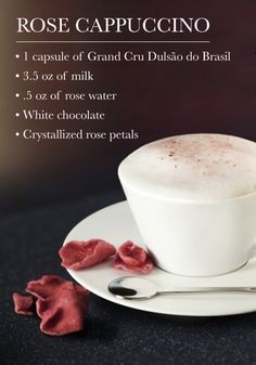 What better occasion to serve this Rose Cappuccino from Nespresso than Valentine's Day? With its slightly pink color and its wonderfully sweet white chocolate flavor, we sure can't think of one.