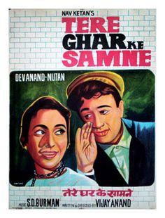 Tere Ghar Ke Samne (1963) Old Movies, Vintage Movies, Vintage Posters, Bollywood Posters, Bollywood Actors, Cinema Posters, Film Posters, Shammi Kapoor, Indian Hindi