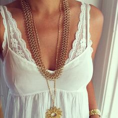 Stitch lace to spaghetti straps to widen, looks cute too.  Love this idea for those of us who need to wear a bra!