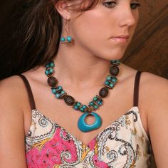 Turquoise Color, Tagua Seed and Rainforest Seed Necklace available at NaturalArtist.com This beautiful eco and boho chic necklace is made up of tagua and rainforest seeds of Colombia. It is part of our Rainforest Jewelry Collection that is all handmade, fair trade and eco friendly. Tagua is a seed found in parts of Central and South America. It has the texture of ivory and replaces the use of animal bone and ivory.(http://naturalartist.com/products/turquoise-tagua-seed-necklace.html)