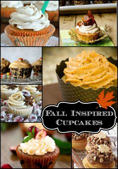 Fall Inspired Cupcakes Round-Up  @Diana {the girl creative} #cupcakes #fall