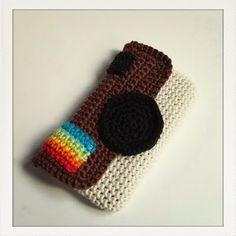 Instagram Crochet Phone Case - Free Pattern. How cute!