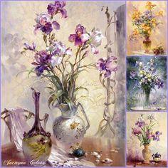 Vasos florais - Pinturas
