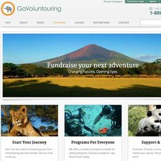 Volunteer vacation site @GoVoluntouring makes it easier for people to fundraise by harnessing the power of crowd funding