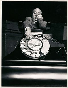 Alfred Hitchcock dials M.