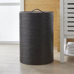 Sedona Black Hamper | Crate and Barrel
