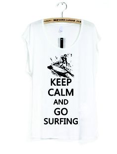 Keep Calm and Go Surfing Tee