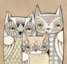 Owl patterns for polymer clay cane inspirations. from My Owl Barn: Owl Lover 2012 Calendar 2012 Calendar, Free Calendar, Franz Marc, Owl Family, Owl Always Love You, Wow Art, Free Prints, Arabesque, Bird Feathers