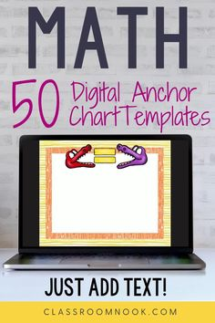 Get your 50 math themed digital anchor chart templates today! This resource is designed to help you create digital and printable anchor charts for your math instruction in minutes - just add text! A total of 50 prepared digital anchor chart slides with a different background using math clip art. A how-to video tutorial is provided to help you get started! A perfect elementary math resource for in-person or distance learning all year long.