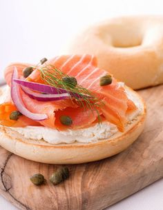 Smoked Salmon and Bagel with Cream Cheese | Glorious Food Collection