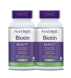 Biotin Maximum Strength For Healthy Hair Radiant Skin Strong Nails. those with deficiencies of biotin can experience brittle nails and hair loss.By taking Natrol Biotin daily, you can improve the health of your hair, strength of nails, and radiant skin. Best Hair Vitamins, Vitamins For Hair Growth, Natural Vitamins, Biotin For Hair Loss, Biotin Hair, Best Hair Loss Products, Beauty Products, Supplements For Hair Loss, Growth Supplements