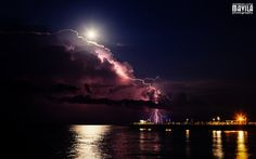 Full Moon Lightning Show Beautiful Photography Plants & Nature Sky Weather