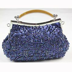 Gorgeous Silk Beads Wristlets/Evening Handbags With Agate Handle(More Colors) - USD $ 24.49