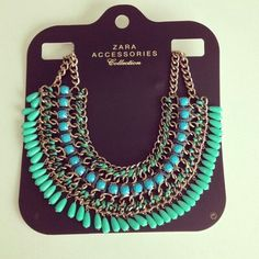 Zara necklase : beautiful blue