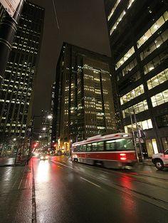Street Car In Toronto Modern Look