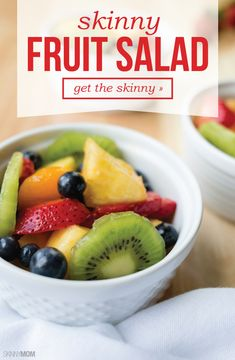 This fruit salad just takes a few minutes to prepare and you've got a snack for the whole week!