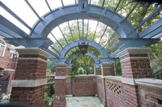 Walled Garden Pergola Hedges Landscaping, Walled Garden, Landscape Design, Pergola, Fair Grounds, Mansions, House Styles, Home Decor, Decoration Home