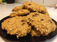 Peanutbutter chocolatechip protein-cookies