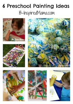 Some fun (and messy) preschool painting ideas from The Kids Co-Op at B-InspiredMama.com