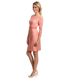 Eliza J Three-Quarter Sleeve Lace Dress