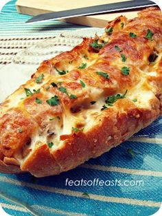 Pull-apart Bread with 3 Cheeses. I checked out this recipe and it's yumilicious!