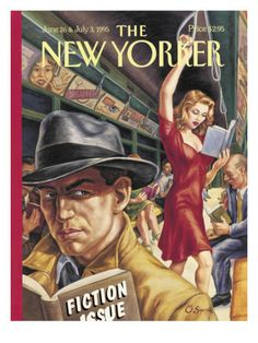 Affiche Owen Smith - Metro - Illustration The New Yorker 44 The New Yorker, New Yorker Covers, Pulp Magazine, Magazine Art, Magazine Covers, Humphrey Bogart, Lauren Bacall, Ava Gardner, Image Republic