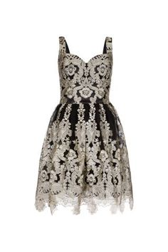 New Look Mobile | Chi Chi Black and Silver Metallic Embroidered Prom Dress