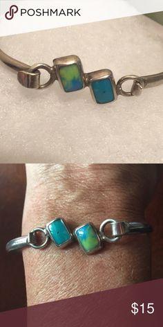 Turquoise and silver bracelet Silver bracelet Jewelry Bracelets