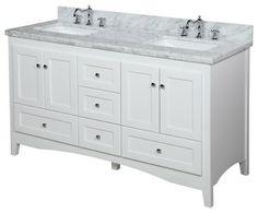 Bathroom Vanity Online white shaker style bathroom vanity | shaker style double sink