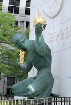 We ❤ Detroit! The Spirit of Detroit is a city monument with a large bronze statue created by Marshall Fredericks.