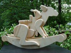 Kangaroo With Joey Rocking Toy $365