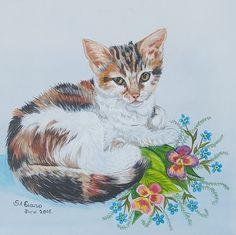 Molly The Kitty Art by S.A.E.Arts Evans, My Arts, Behance, Kitty, Drawings, Artwork, Painting, Kitten, Work Of Art