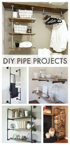 Give your home a unique look with decor ideas using industrial pipe.