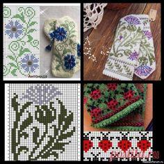 Схемы жаккардов для варежек   Вязание для женщин спицами. Схемы вязания спицами