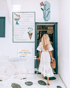all white outfit, lace spring ruffle dress, midi length, women's casual spring summer travel outfit inspiration, ideas, comfortable sun dress