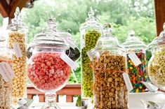 love these jars for a candy bar