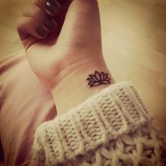 Small Lotus flower wrist tattoo!