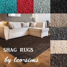 SHAG RUGS at Leo Sims via Sims 4 Updates