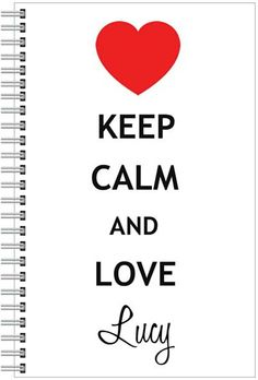 Keep Calm and Love Lucy Notebook by ChicagosOwn on Etsy, $14.95