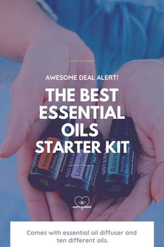 If you are just starting out with essential oils, this is a great deal: it comes with an essential oil diffuser and a set of 10 essential oils, including lavender, jasmine, eucalyptus, peppermint, and more. #essentialoils #essentialoildiffuser #aromatherapy #essentialoilbenefits #lavender #eucalyptus #selfcare