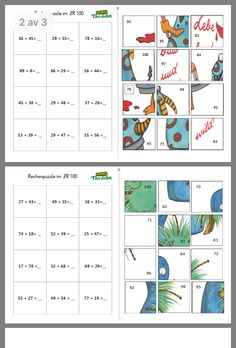 Maths Puzzles - addition and subtraction Maths Puzzles, Math Worksheets, Math Resources, Math Stations, Math Centers, Math Games, Math Activities, Math Math, Number Games