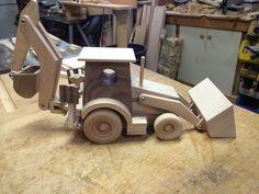 Retroexcavadora de juguete de madera artesanales por KKRVenturesLLC